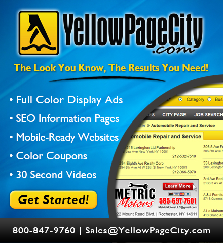 Yellow Page City Inc. Website Image