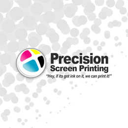 Precision Screen Printing Website Image